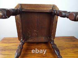 Antique Mission Style California Tiled Table Oak Side Chamfered Edge 1910s 1920s