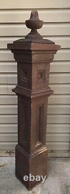 Antique Newel Post Arts & Crafts Mission Style Architectural Salvage Early 1900