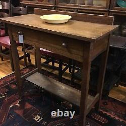 Antique Oak Arts & Crafts Era Server/Dining Buffet w Drawer Mission Oak