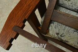 Antique Quartersawn Oak Mission Morris Chair