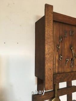 Antique Sessions Mini Mission Oak Wall Clock
