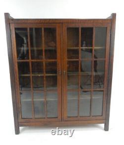 Antique Stickley Era Mission Oak 18 Panel Book Case. 45.75 inches