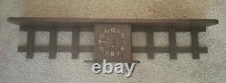 Antique Stickley Era Mission Oak Arts & Crafts Clock Shelf Plate Cup Rack Unique