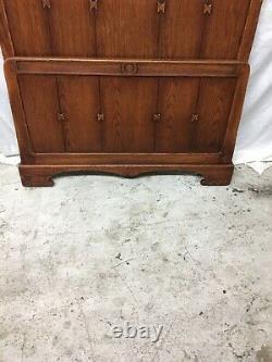 Antique Vintage Arts & Crafts Mission Oak Twin Bed Stickley Era Missing Rails