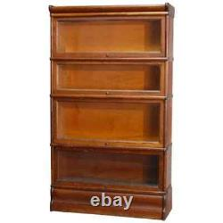 Arts & Crafts Mission Oak 4-Stack Barrister Bookcase, circa 1920