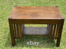 Arts & Crafts Mission Oak Antique Library Table or Desk
