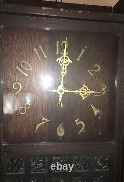 Arts & Crafts Mission Oak Stickley Era Wall Clock / Unique