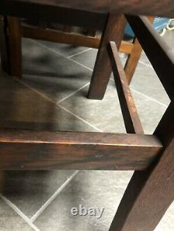 Arts & Crafts Oak Armchair Leather Mission Craftsman Chair Local Pick Up