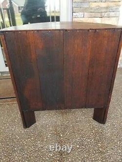 Arts and Craft, Mission Quarter Sawn Oak Liquor Cabinet Restored