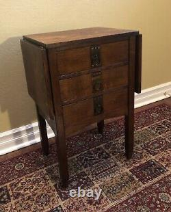 Arts and Crafts Era Sewing Cabinet Table Mission Oak