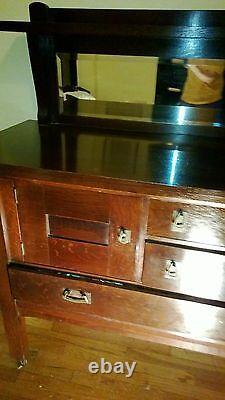 Arts and Crafts Mission Server Sideboard Buffet Quartersawn Oak
