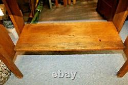 Arts and Crafts Mission Style Tiger Oak Drop Front Desk Secretary c. 1900-1920