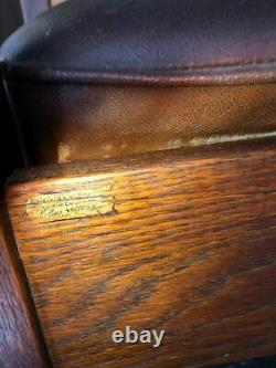 Ca. 1915 Chas. Stickley Mission Style Rocking Chair with Original Finish, a Gem