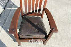 Charles Limbert Mission Oak Arts and Crafts Original Finish Rocking Chair