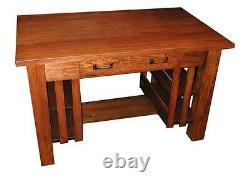 Charming Antique Oak Mission Table c1910 #4850