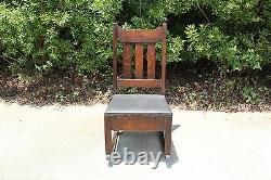 Charming Mission Oak Original Finish Rocking Chair with Sewing Drawer Ca. 1910