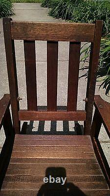 Child Mission Antique Oak Rocker Rocking Chair (possibly Stickley), Slatted Seat