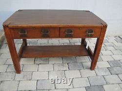 EARLY Stickley Bros lib table/desk