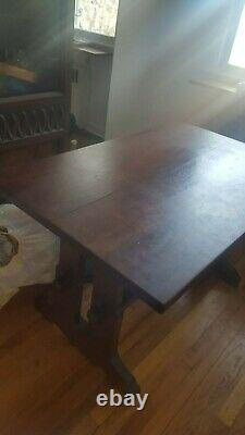 Early Stickley Antique Mission Oak Trestle table. Best offers considered