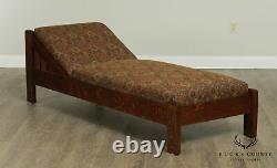 Eldredge & Miller Antique Mission Oak Day Bed Chaise Lounge