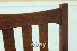 F49467EC Set Of 6 STICKLEY Antique Mission Oak Dining Room Chairs