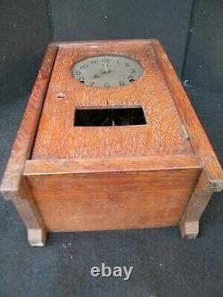 Genuine Original 1905 Gustav Stickley Quartersawn Mission Style Oak Mantle Clock