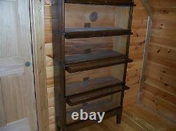 Globe Wernicke Antique Oak Barrister 4 Section Stacking Bookcase Mission Oak