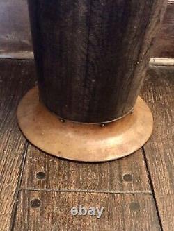 Gustav Stickley Antique Arts & Crafts Mission Oak Hammered Copper Umbrella Stand
