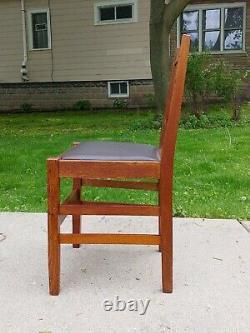 Gustav Stickley Antique H Back Desk Vanity Chair Mission Oak Arts & Crafts #398