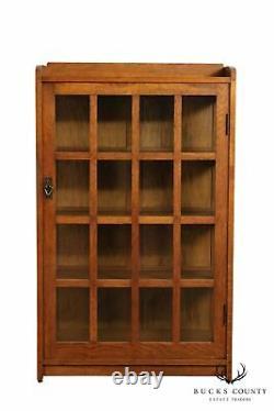 Gustav Stickley Antique Mission Oak One Door China Cabinet Bookcase