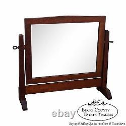 Gustav Stickley Rare Antique Mission Oak Shaving Mirror
