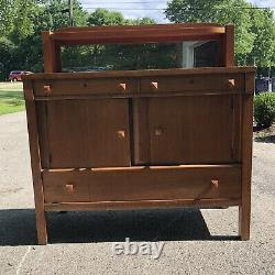 Koenig Antique Mission/Arts and Crafts Style Oak Sideboard or Buffet