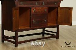 Lifetime Antique Mission Arts & Crafts Period Oak Sideboard