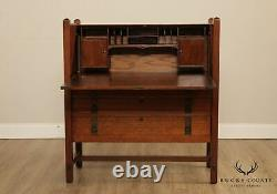 Limbert Antique Mission Oak Arts & Crafts Slant Front Desk