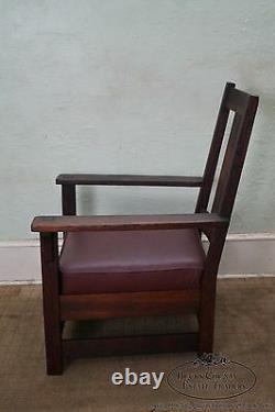 Limbert Antique Mission Oak Lounge Arm Chair