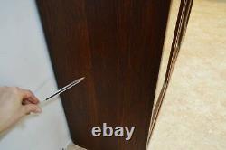 Limbert Antique Quartersawn Oak Mission Style Three Door Bookcase (A)