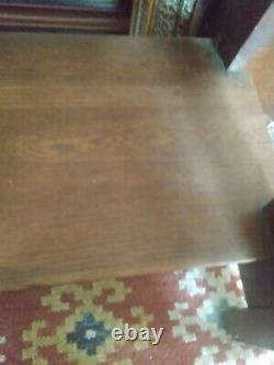 Limbert Mission Oak #146 Arts and Crafts Cut Out Table Base-Signed and Original