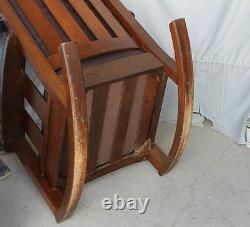 Limbert Set Antique Mission Oak Rocking Chair and Gentlemans Arm Chair Arts &