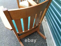 Matched Pair Of Stickley Era Mission Arts & Crafts Chairs, Heavy & Sturdy & Orig