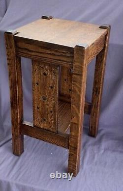 Mission Arts & Crafts Stickley Era Plant Stand Side Table Quarter Sawn Oak