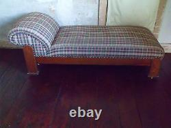 Mission Arts and Crafts Oak Chaise Longue Fainting Couch Day Bed PICKUP ONLY