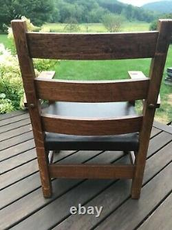 Mission Childs Chair by Oak Craft Ramsey-Alton Mfg. 1905-1915 Original As Is