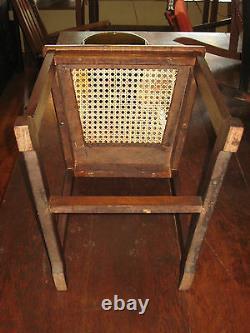 Mission Oak Arts & Crafts Era Cane Seat Chair Desk/Side Stickley Bros