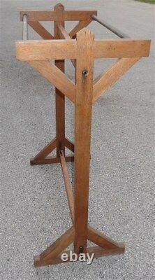 Mission Oak Arts & Crafts Prairie Style Stickley ERA Double Coat Rack