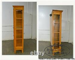 Mission Oak Arts & Crafts Style Curio Display Cabinet Etagere