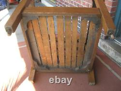 Mission Oak Stickley Brothers Large Arm Chair/Leather #703 Original