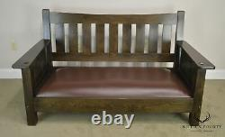Mission Style Solid Oak Settee or Sofa