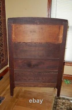 Mission oak arts and crafts china cabinet original fumed oak finish