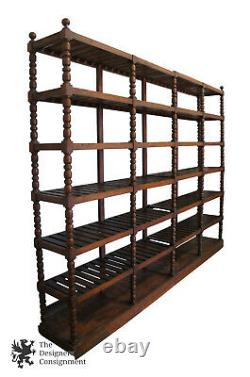 Monumental Early 20th C. Antique Mission Oak Etagere Library Bookcase Shelf 115
