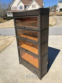 Oak Art Mission Globe Wernicke Barrister Bookcase